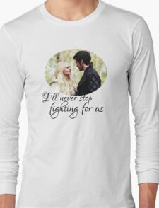 Captain Swan + quote Long Sleeve T-Shirt