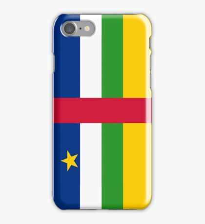 Central African Republic Flag iPhone Case/Skin