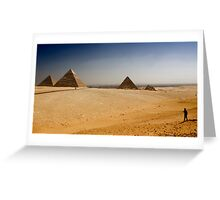 Gizah Pyramids Greeting Card