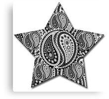 Paisley Yin Yang Star Canvas Print