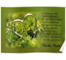 Thanks, Mom! (Card) Poster