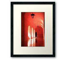 Sunlit Pink Arches  Framed Print