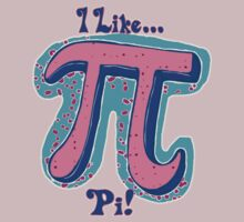 I Like Pi Pink Blue by MudgeStudios