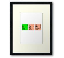 Nerdy -Periodic Table Framed Print