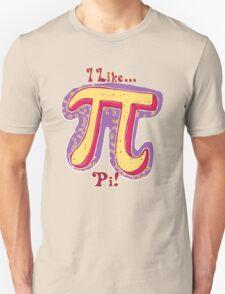 I Like Pi Pink Yellow Unisex T-Shirt