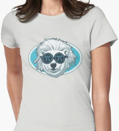 Funny Pi-Polar Bear Womens Fitted T-Shirt