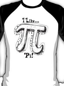I Like Pi Black White T-Shirt