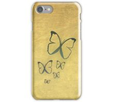 Butterflies on gold iPhone Case/Skin