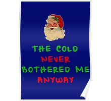 THE COLD NEVER BOTHERED ME ANYWAY Poster