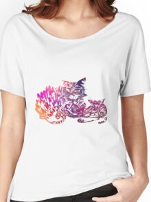 Three cats purple Women's Relaxed Fit T-Shirt