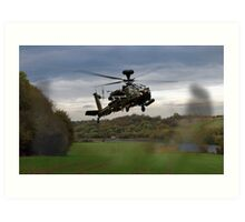 Apache In The Field Art Print