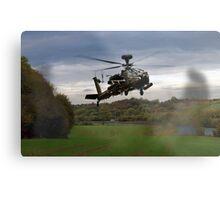 Apache In The Field Metal Print