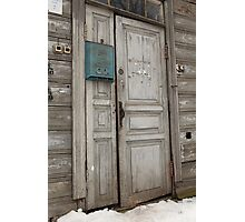 old entrance door Photographic Print