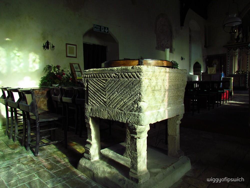 Interior of St Mary's, Kettlebaston by wiggyofipswich