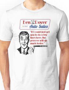 Ben Dover Auto Sales - Do Lines Unisex T-Shirt