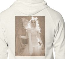 Winter Victorian Fairy Zipped Hoodie