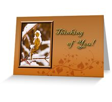 Thinking Of You Leaf Greeting Card