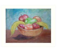 the fruit basket Art Print