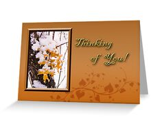 Thinking Of You Leaves Greeting Card