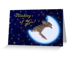 Thinking Of You Bunny Rabbit Greeting Card