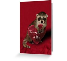 Thinking Of You Raccoon Greeting Card