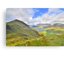 The Lake District: Overlooking Buttermere Metal Print
