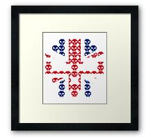 Union Jack Skulls T Shirt Framed Print
