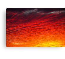 Red Orange Sunset Clouds Canvas Print