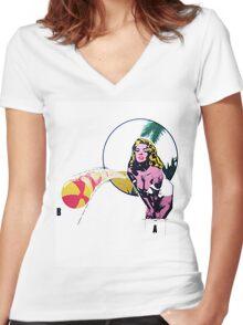 Monroe  Women's Fitted V-Neck T-Shirt