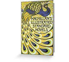 Art nouveau peacock publishing house Greeting Card