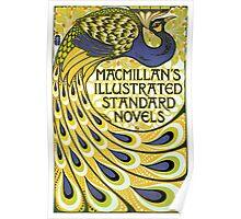 Art nouveau peacock publishing house Poster
