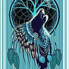 Wolf Indian Shaman by SFDesignstudio