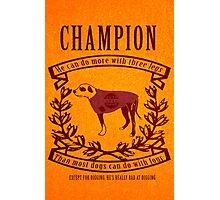 Champion Photographic Print