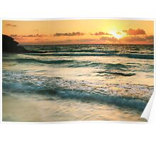 Tulum Sunrise Seascape Poster
