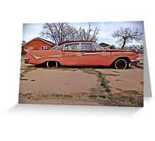 1959 Desoto, Sweetwater, Texas Greeting Card