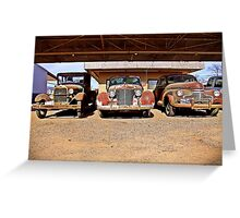 Ford, Cadillac and Chevrolet, Ballinger, Texas Greeting Card