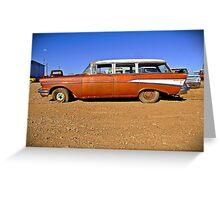 1957 Chevrolet Wagon, Albany, Texas Greeting Card