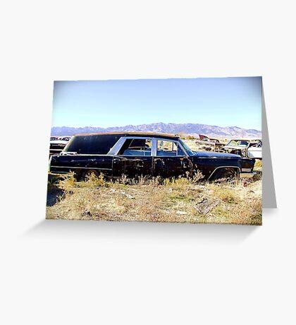 1967 Cadillac Hearse, Grantsville, Utah Greeting Card