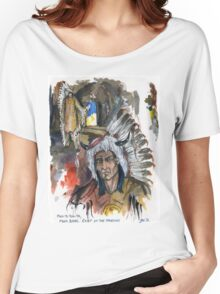 Four Bears Mandan Chief Women's Relaxed Fit T-Shirt