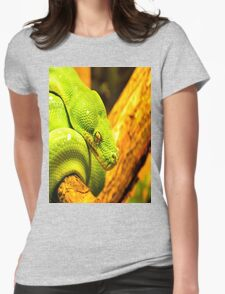 Emerald Tree Boa Womens Fitted T-Shirt