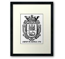 Ciudad de Manila 1596 Framed Print