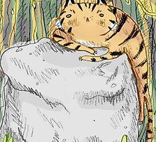 Lazy Tiger by Sophie Corrigan