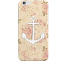 Floral Anchor 4 iPhone Case/Skin
