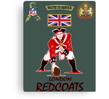 London Redcoats Salute to Service  Canvas Print