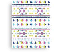 Neon Snowflake- Blur Canvas Print