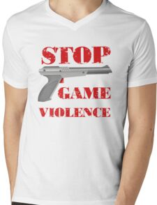 Stop Game Violence Mens V-Neck T-Shirt