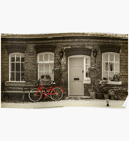 The Red Bicycle Poster