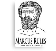 Marcus Rules Canvas Print