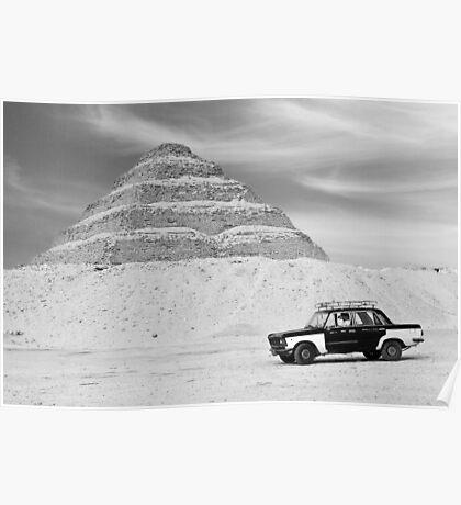 Taxi Pyramid Egypt Poster