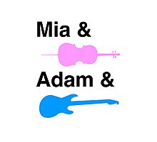 Mia & (Cello) & Adam & (Guitar). Photographic Print